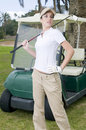 Free Beautiful Golf Player With Her Bogey Royalty Free Stock Photography - 8662217