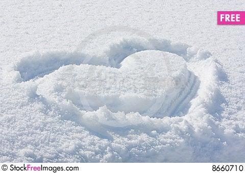 Snowheart Stock Photo