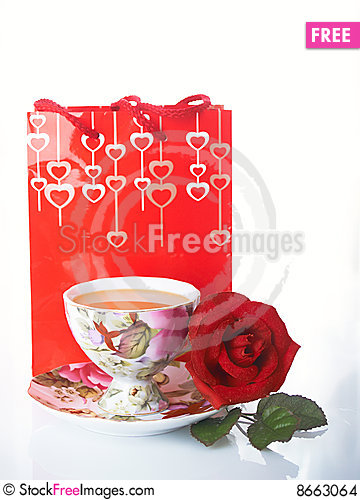 Free Rose And Cup Stock Images - 8663064