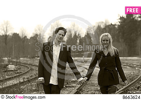 Free Couple Going Stock Images - 8663624