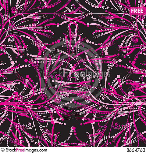 Free Pink Floral Pattern Stock Photos - 8664763