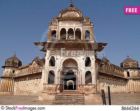 Free Palace In Orcha, Madhya Pradesh Royalty Free Stock Image - 8666266