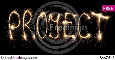 Free Word Project Written Sparkler Stock Photos - 8667513