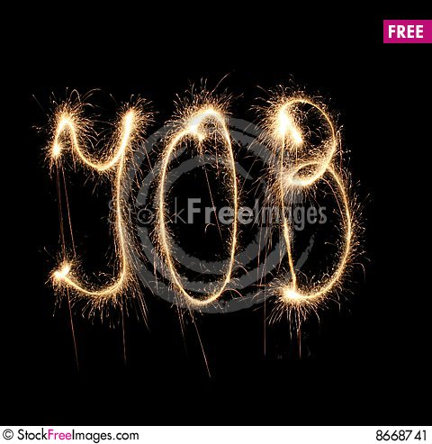 Word job written sparkler Stock Photo