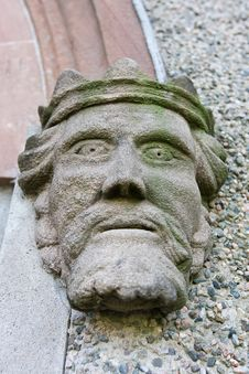 Stone Head Of A King Stock Images