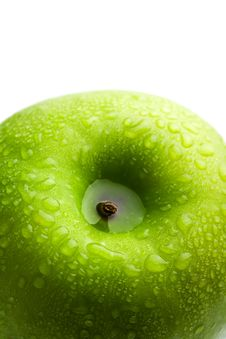 Free Fresh Green Apple With Water Droplets Isolated Stock Photos - 8660093