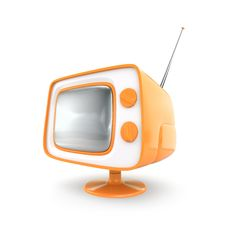 Free Stylish Retro TV. Stock Photo - 8660250