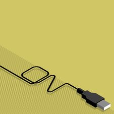 Free Cable Usb And Plug With Inscription Royalty Free Stock Image - 8660656