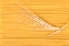 Spaghetti And Wheat Stem. Royalty Free Stock Photo
