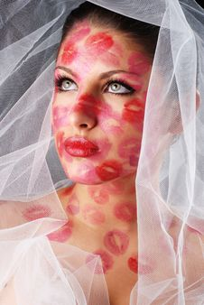 Free Woman And Veil Royalty Free Stock Photography - 8661127