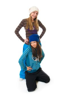 Free The Two Young Attractive Girls Stock Images - 8661234