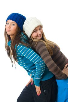 Free The Two Young Attractive Girls Stock Photos - 8661273