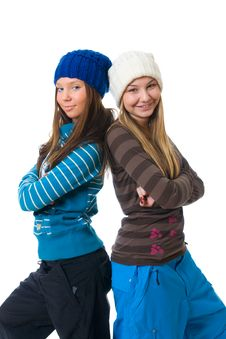 Free The Two Young Attractive Girls Royalty Free Stock Image - 8661286