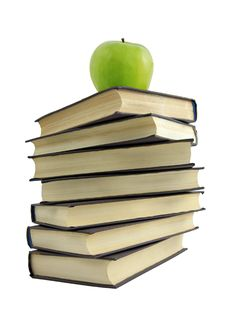 Free Book And Green Apple Royalty Free Stock Photography - 8661447