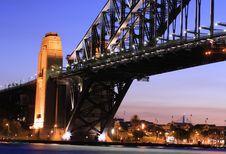 Sydney Harbour Bridge At Sunset Stock Photography