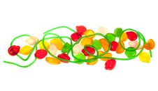 Fruit Jelly Candy Isolated Stock Images