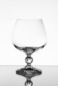 Free Tall Wine Glass On Light Background Stock Photography - 8662302