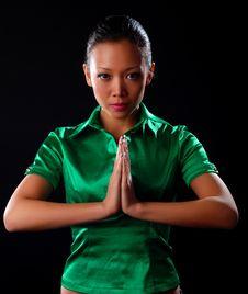 Free Woman In Green Shirt Stock Image - 8662331