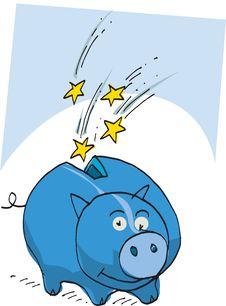 Free Blue Money Box Stock Photography - 8662422
