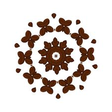 Free Coffee Beans Kaleidoscope Stock Photography - 8662602