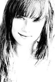 Free Bw Portrait Of Beautiful Girl Stock Photo - 8662890