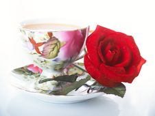 Free Rose And Cup Stock Image - 8663091
