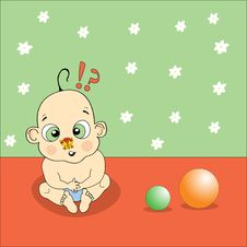 Free Baby Playing Illustration Stock Photos - 8663193