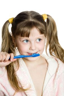 Free Nice Girl With Toothbrush Stock Photos - 8663303