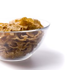 Bowl Full Of Cornflakes Royalty Free Stock Images