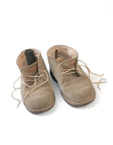 Free Old Worn Boots Isolated Royalty Free Stock Photography - 8663597