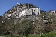 Rocamadour Perched Village Royalty Free Stock Photo