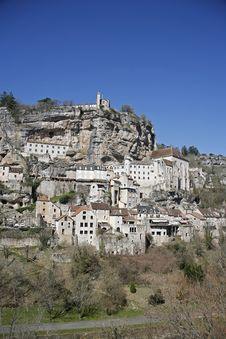 Rocamadour Perched Village Stock Photos