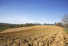 Ploughed Field Stock Image