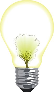 Free Green Energy Lightbulb Royalty Free Stock Photos - 8664308