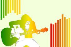 Free A Woman Playing Guitar Stock Photos - 8664363
