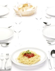 Free Pasta With Tomato Sauce Stock Photos - 8664543