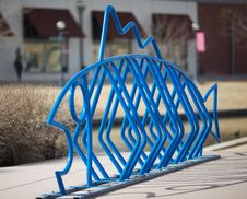 Free Fish Designed Public Bike Rack Stock Photo - 8664710