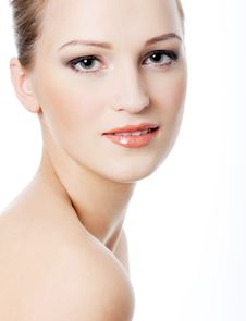 Female Face With Healthy Complexion Stock Images