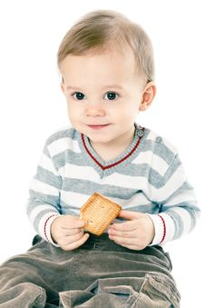 Free Little Boy In Strip Pullover Stock Photography - 8665202