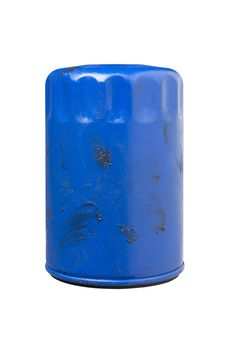 Free Greasy Used Automotive Oil Filter Royalty Free Stock Photography - 8665487