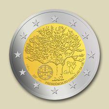 Free Portuguese 2 Euro Coin Royalty Free Stock Photo - 8665685