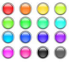 Free Color Buttons Royalty Free Stock Photos - 8665758