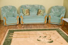 Free Two Armchairs And Sofa. Royalty Free Stock Image - 8665766