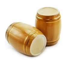 Free Gold Tuns From Wine Cellar Isolated Stock Image - 8666451
