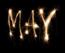 Free Month May Sparkler Royalty Free Stock Photography - 8666757