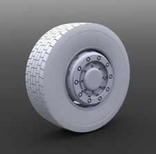 Free Truck Wheel Royalty Free Stock Image - 8666926