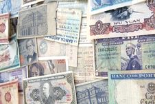 Banknotes From The World Stock Photography