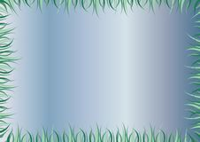 Free Blue Frame Or Mirror With Green Grass As Border Royalty Free Stock Image - 8667136