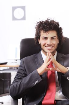 Free Businessman In The Office Stock Photo - 8667540