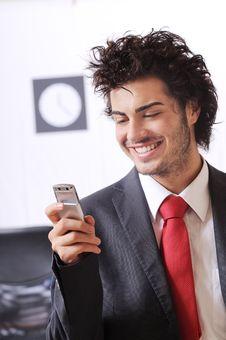 Free Businessman Uses Telephone Royalty Free Stock Photo - 8667755